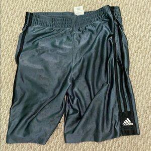 Grey Adidas Shorts (Kids Medium)